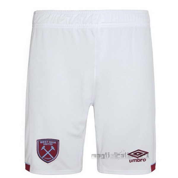 Home Pantaloni West Ham United 2020 2021 Bianco Tute Da Calcio